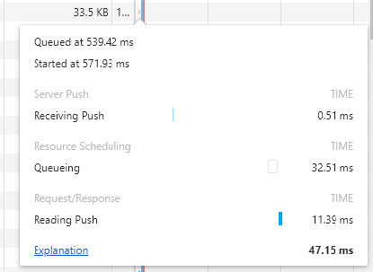ChromeでServer Pushの確認方法2
